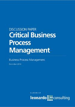 Critical Business Process Management